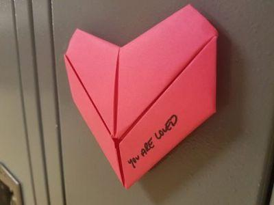 Anonymous Student Makes Valentines for Entire School To Remind Everyone 'You Are Loved'