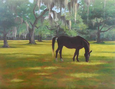 "Original Oil Painting, ""Horse Country,"" 18x24 Equine Oil on Canvas"