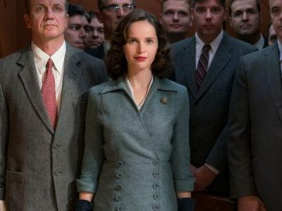 Felicity Jones Wears a Diane Von Furstenberg Wrap Dress and a YSL-Inspired Suit as Ruth Bader Ginsberg in 'On the Basis of Sex'