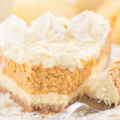 Eggnog Pumpkin Cheesecake