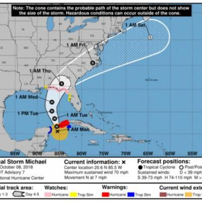 Tropical Storm Michael Will Soon Be Hurricane Michael. See its Path and Track