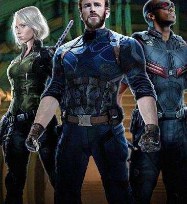 New AVENGERS: INFINITY WAR Promo Art Shows Off Costumes For Captain America, Black Widow, and Falcon