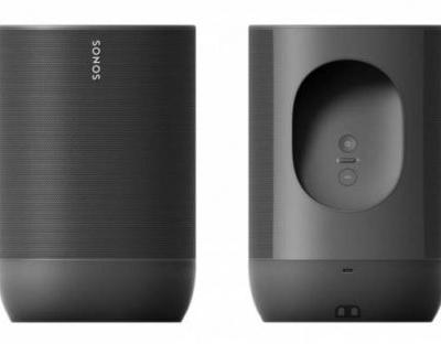 Sonos Move portable Bluetooth speaker leaks with charging station