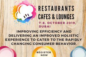 First edition of Restaurants Cafés & Lounges to be held in Oct. 19'