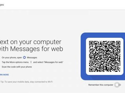 How to use Android Messages for web