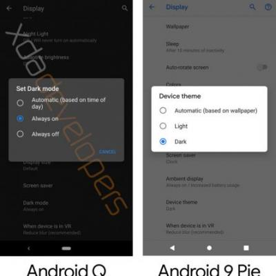 Leaked Android Q build shows off dark mode, improved privacy controls