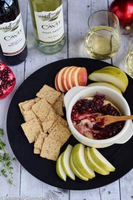 Pomegranate Baked Brie