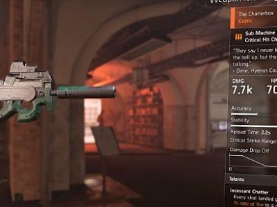 How to Get the Chatterbox SMG in The Division 2
