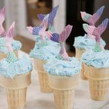 Mermaid Cupcakes Stuffed in Ice Cream Cones?! This Dessert Is Almost Too Cute to Eat