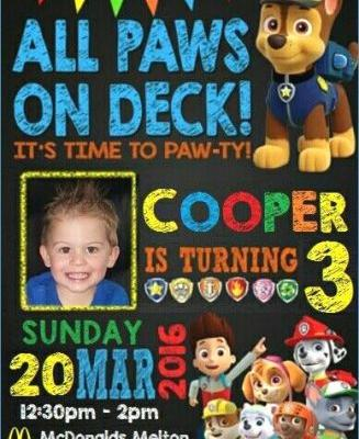 30 New Paw Patrol Party Invitations Template Graphics