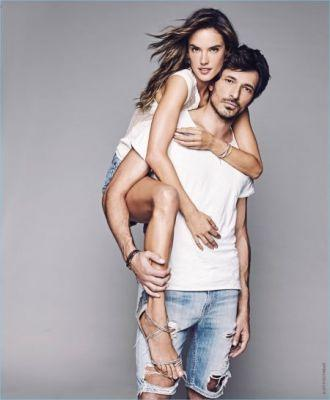 The Perfect Pair: Andres Velencoso & Alessandra Ambrosio Front Xti Spring '17 Campaign