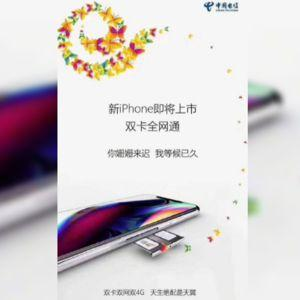 'You're late, I've been waiting.' China Telecom teases the first dual-SIM iPhone