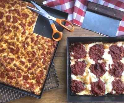 A pair of pan pizza recipes: thick and thicker