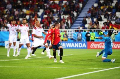Watch: Iago Aspas back heels Spain to draw at World Cup