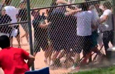 Un-childish temper: Parents stage mass brawl at under-7s baseball game