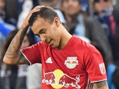 New York Red Bulls' Kaku sent off after firing ball at fans