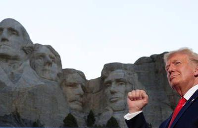 Trump mocks NYT for 'fake news' claim he wants his face on Mt. Rushmore, but says it 'sounds like a good idea'