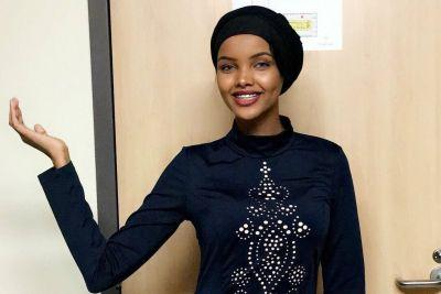 A hijab-wearing model debuted at Kanye West's Yeezy