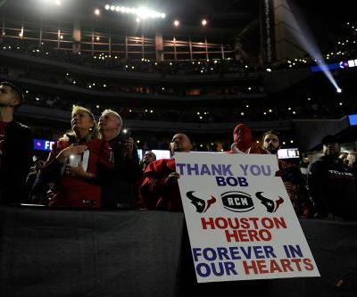 Bob McNair honored before Houston Texans' game vs. Tennessee Titans on Monday night