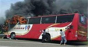 Central China: 26 killed and 28 injured in Hanshou County tour bus fire