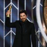 Christian Bale's Bleeped Golden Globes Speech Was Completely Bonkers