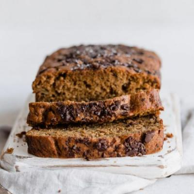 Chocolate chip & rye banana bread