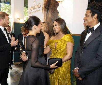 Meghan Markle, Prince Harry meet Beyoncé and Jay-Z at 'Lion King' premiere
