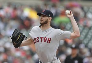 Sale wins 5th straight start, leads Red Sox over Tigers 9-1