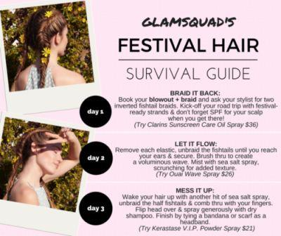 HAIR HOW TO: FESTIVAL BRAIDSCoachella-bound or just getting into