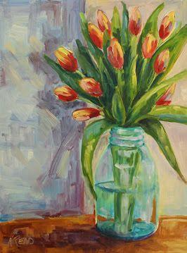 Spring Tulips by Helen Read