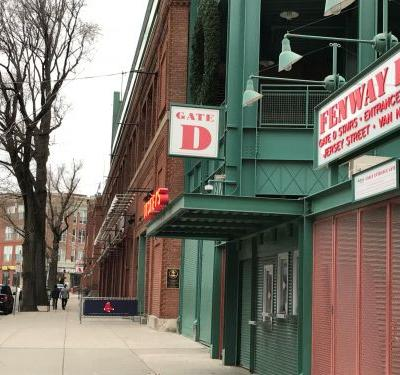 Portion of wrap banner stolen from Fenway Park