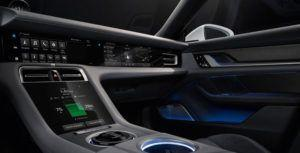 Porsche's Taycan EV interior has lots of touch screens and voice controls
