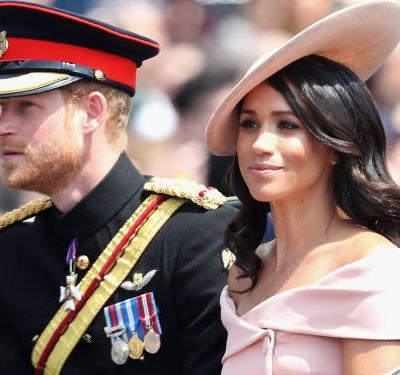 Meghan Markle and Prince Harry stepped out for their first Trooping the Colour together
