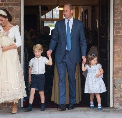 The Tweets About Prince George & Princess Charlotte At Prince Louis' Christening Are So Cute