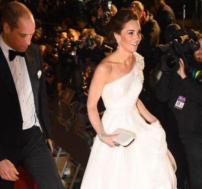 Kate Middleton looked like a Greek goddess on the red carpet at the BAFTAs
