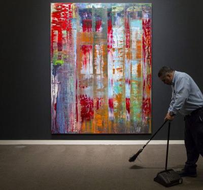 Deutsche Bank removes a trio of massive and expensive paintings from its Wall Street lobby