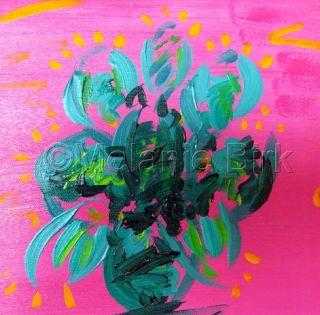 "Abstract,Contemporary Art,Cactus ""Cool Cactus"" by Santa Fe Contemporary Artist and Designer Melanie Birk"