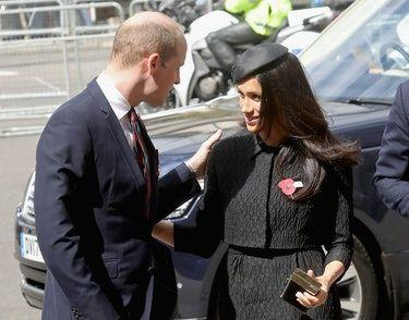 Meghan Markle & Prince William's Moment At The Anzac Day Commemoration Service Is Super Sweet