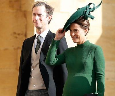 Pregnant Pippa Middleton attends Princess Eugenie's wedding just before due date