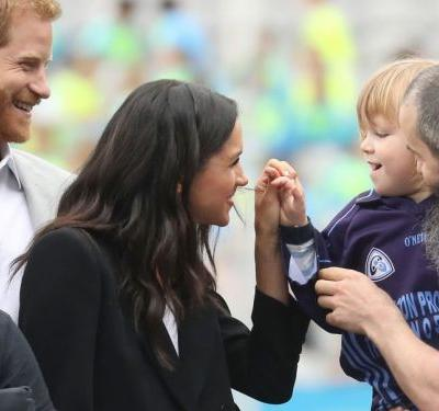 A 3-year-old boy pulled Meghan Markle's hair during a royal visit in Ireland - and Prince Harry had the best reaction