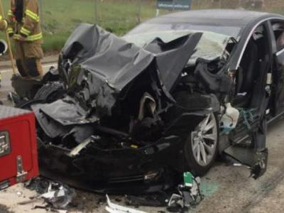 Tesla Model S Driver Says Autopilot Was On Before Crash Into Firetruck: Police