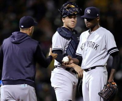 Domingo German struggles as Yankees' road trip starts with thud