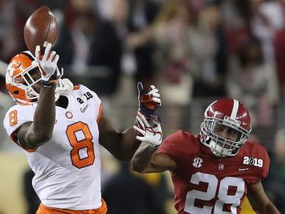 Wild angle shows the ridiculous circus catch Clemson breakout receiver Justyn Ross made while shredding Alabama