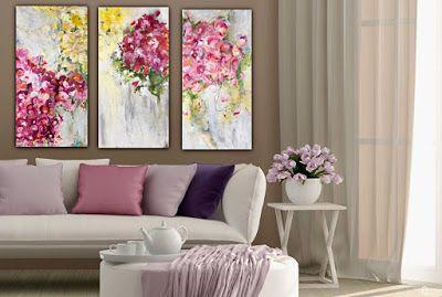 """Contemporary Abstract Botanical Series Fine Art Painting for Sale """"MUSICAL BOUQUET"""" by Contemporary Expressionist Pamela Fowler Lordi"""