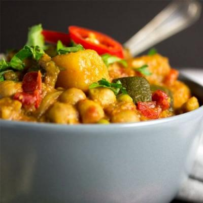 Easy Slow Cooker Vegetable Curry