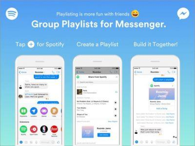 Spotify Introduces Group Playlists For Facebook Messenger