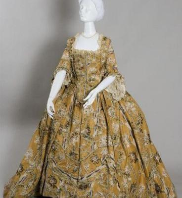 Robe a la francaisec.1765Wadsworth Atheneum Museum of Art