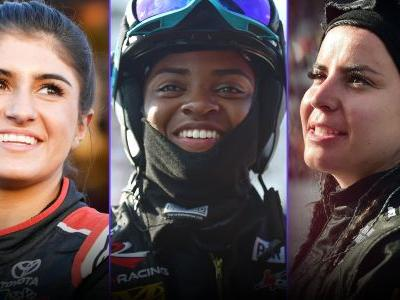 Hailie Deegan, Brehanna Daniels, Breanna O'Leary carrying the torch for women in motorsports