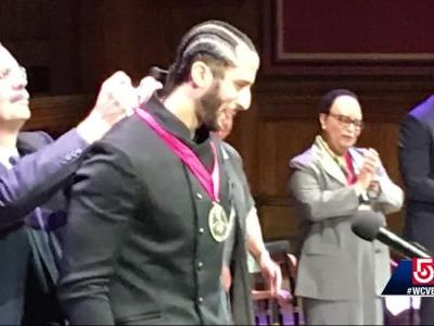 Colin Kaepernick honored by Harvard University