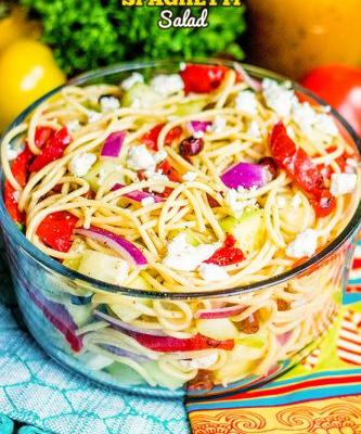 Greek Spaghetti Salad